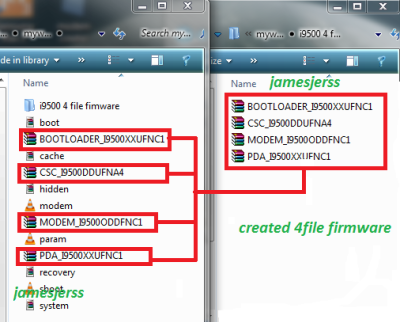 How to Create Samsung 4 file firmware - PAKFONES