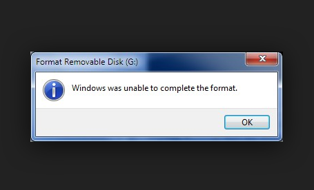 Memory Card Repair Free – Windows was unable to complete the format